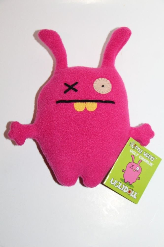 "UGLY DOLL Gund UGLY CHARLIE pink 7"" NEW with tags"