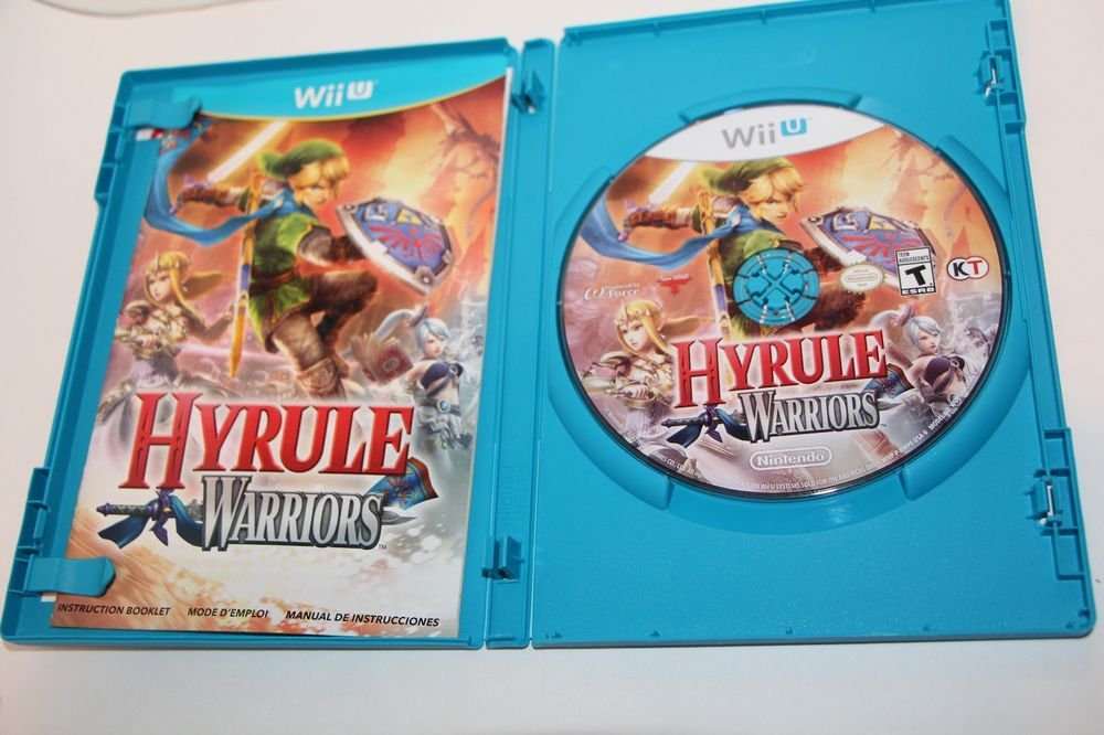 Nintendo Wii U HYRULE WARRIORS GAME CASE AND MANUAL  Ship Same Day