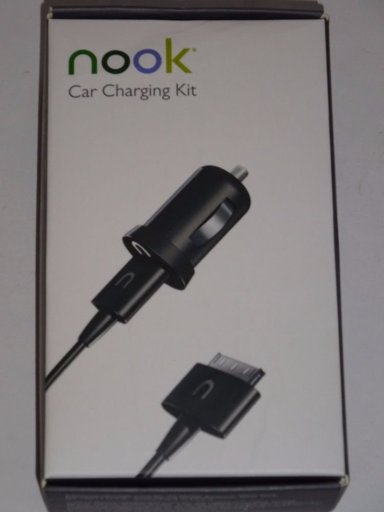 Genuine Authentic NOOK Car Charging Kit Nook HD Nook HD+ NEW Fits all Cars