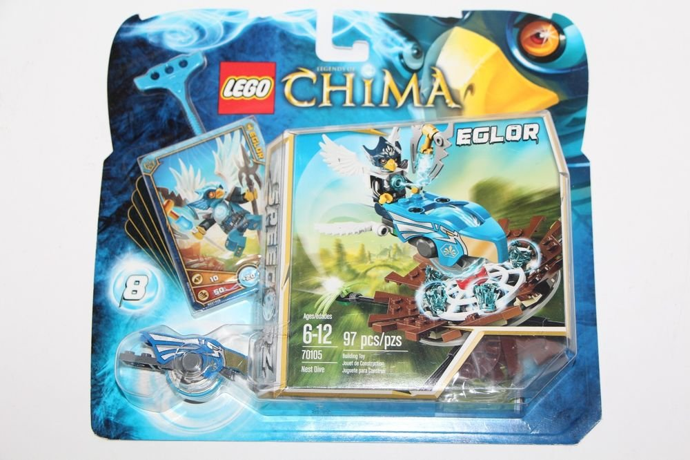 Lego LEGENDS OF CHIMA Speedorz Eglor Minifigure Nest Dive (70105) NEW SEALED