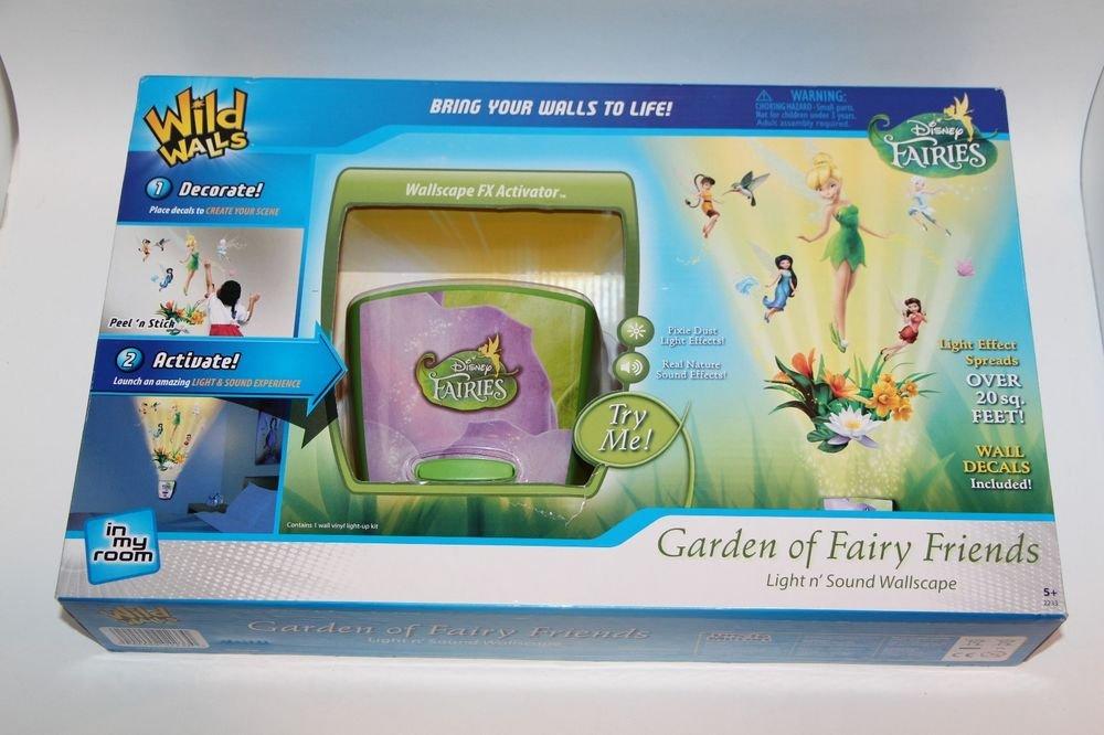 Disney Faries Wild Walls Garden of Fairy Friends Light n Sound Wallscape Decal
