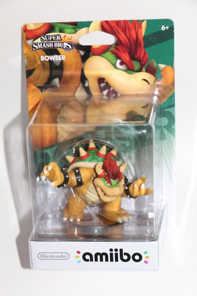 Nintendo Amiibo BOWSER Super Smash Bros Wii U IN HAND SHIPS SAME DAY BOXED!