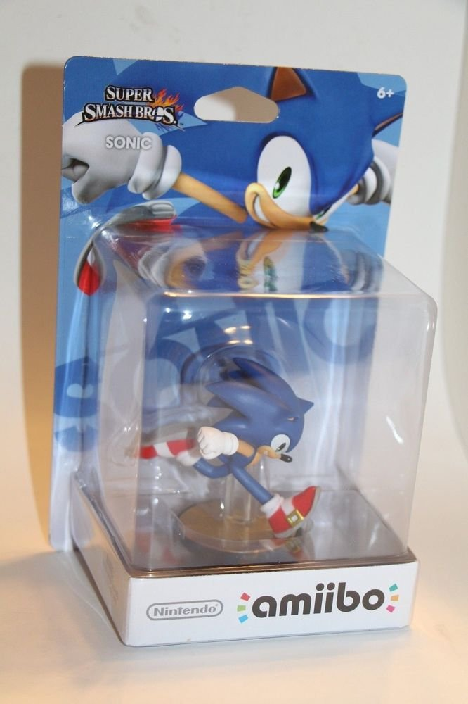Nintendo Amiibo SONIC Super Smash Bros Wii U IN HAND SHIPS SAME DAY BOXED!