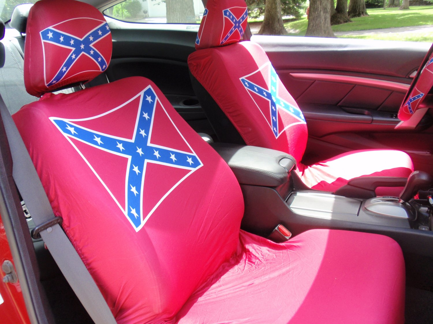 Confederate Flag Seat Cover