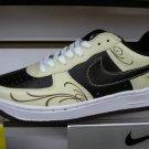 Nike Air Force 1 - Black/Cream Swirls/White Low