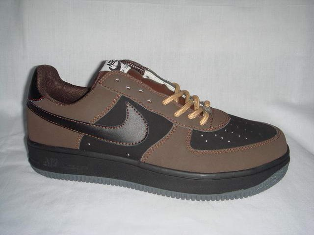 Nike Air Force 1 - Brown/Black/Grey/Gold Low
