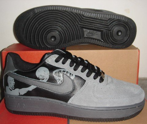 Nike Air Force 1 - Grey Suede/Black/Basketball 25th Anniversary Edition Low