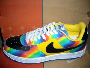Nike Air Force 1 - Rainbow/Yellow/Black/White Low