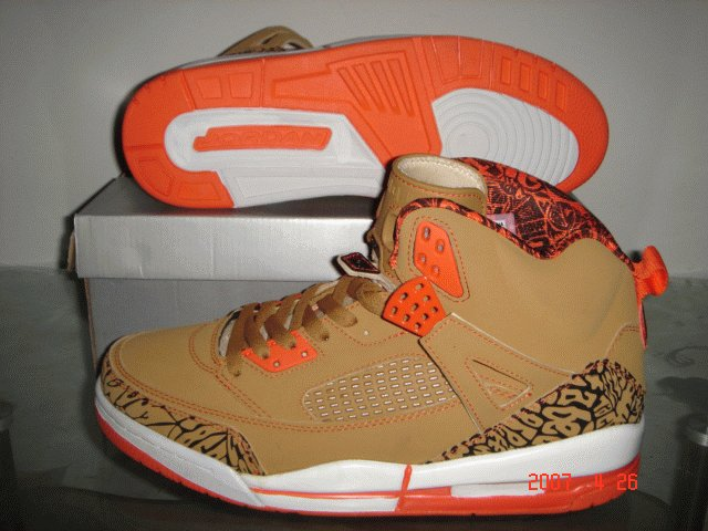 Nike Air Jordan IV.5 Spike - Tan/Orange/Black