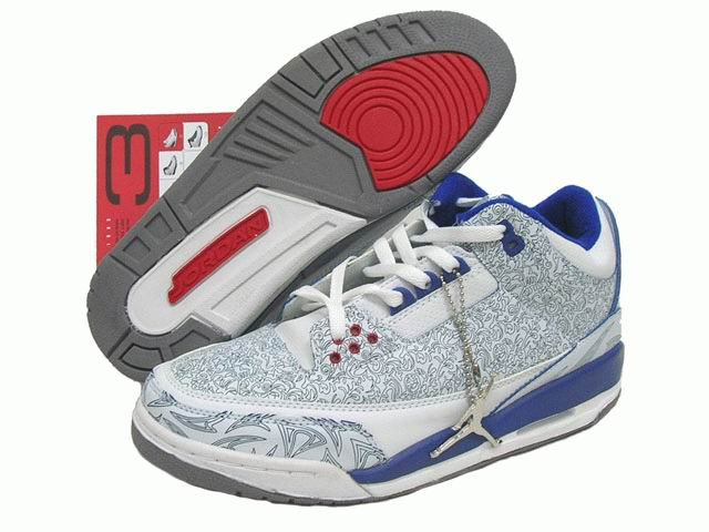 Air Jordan 3 Retro Laser Blue/Red