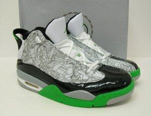Nike Air Jordan Dub Zero - White/Black Laser/Black/Green Mid