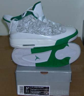 Nike Air Jordan Dub Zero - White/Green Mid