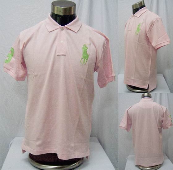Polo - Pink w/Green