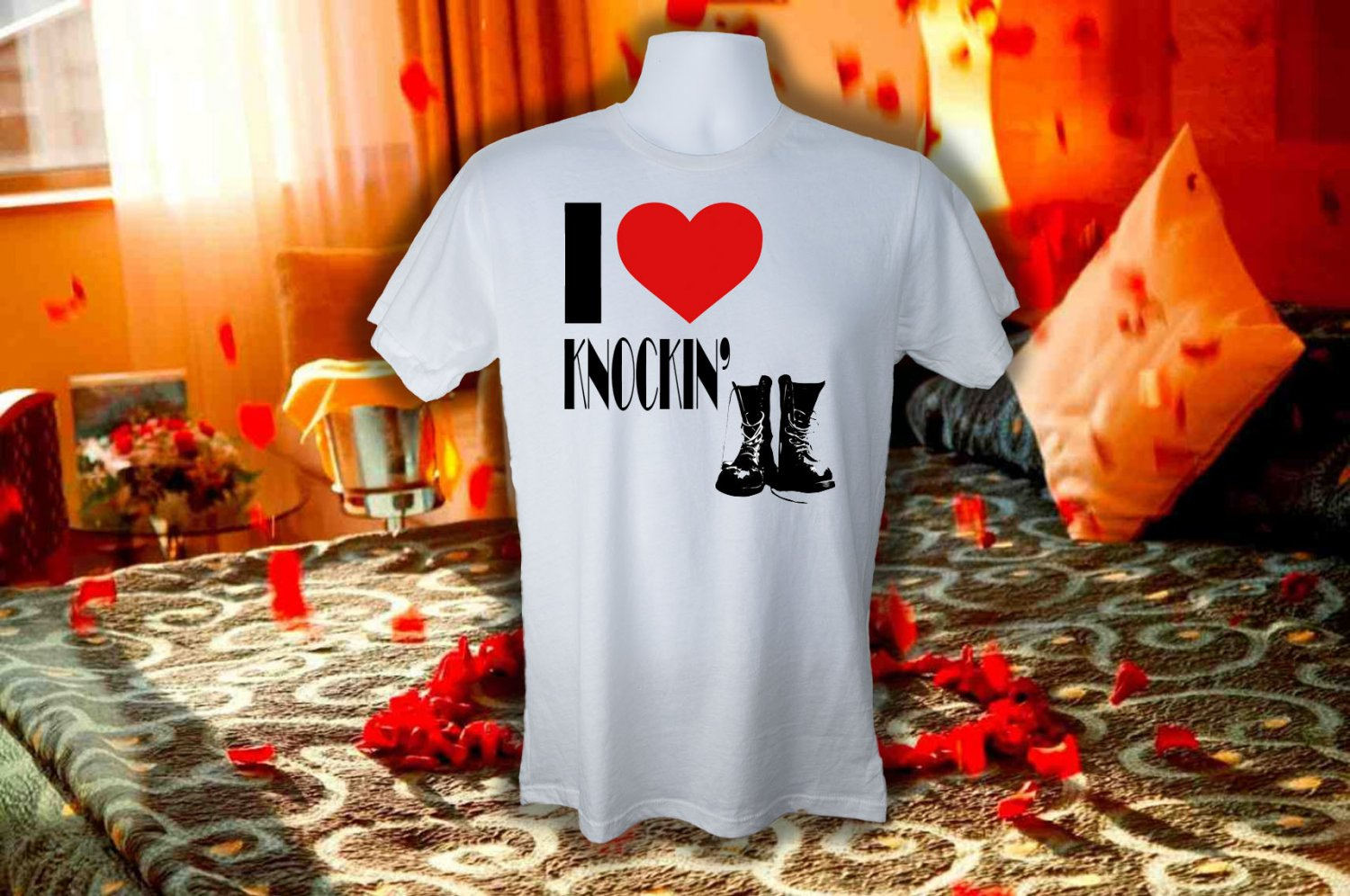 I LOVE KNOCKIN BOOTS T SHIRT 3XL