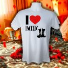 I LOVE KNOCKIN BOOTS T SHIRT MEDIUM