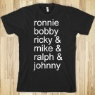 NEW EDITION T SHIRT L RONNIE, BOBBY, RICKY, MIKE, RALPH AND JOHNNY
