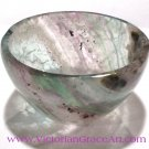 Rainbow Fluorite stone Bowl Gemstone Bowls crystal healing Reiki energy cleansing crystals
