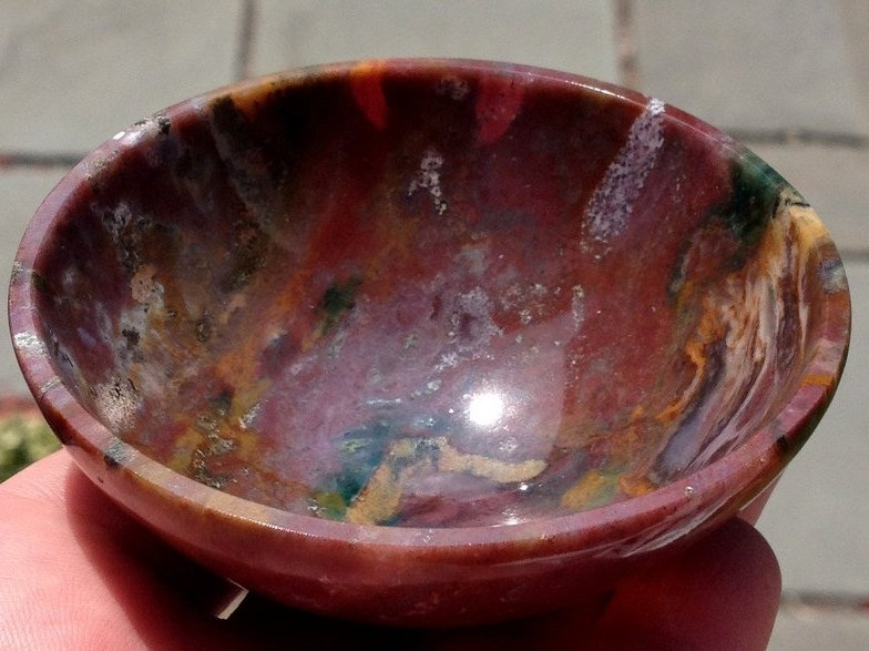 Angel Crystal Healing New Beginnings Rainbow Jasper Gemstone Bowl Archangels Crystals Bowls Stones