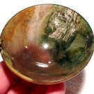 Crystal Soul healing gemstone bowls Fancy Moss Agate Reiki Earth Energy Abundance Generator crystals