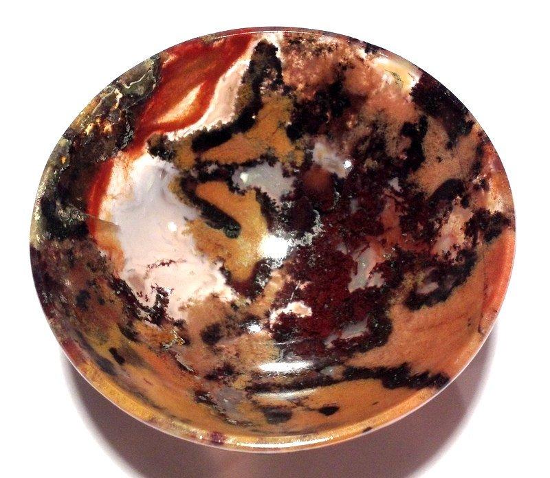 Healing Crystals gemstone stone Bowls Red Moss Agate Manifestation Reiki altar offering Devotional