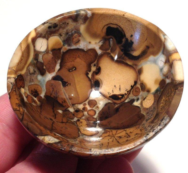 Gemstone Bowls Crystal healing Shaman Spirit contact astral travel Leopard skin jasper stone bowl