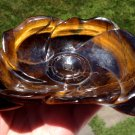 "5.8"" Gemstone Bowl Healing Crystals Tiger Eye Idar-Oberstein Bowl Manifest Luck Prosperity Bowls"