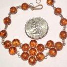 "Metaphysical energy Healing Crystals Programmed Jewelry 8"" Amber Gemstone Manifesting Bracelet Magic"