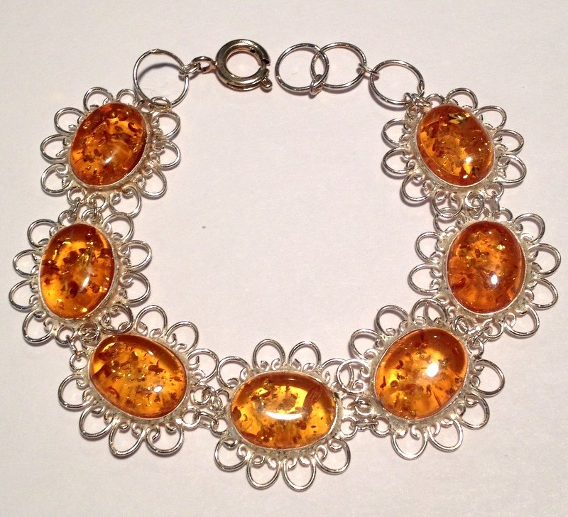 Metaphysical Healing Crystals Programmed Jewelry Amber Gemstone Spiritual Realm Bracelet Magick