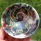 Prosperity Gemstone Bowls Moon Goddess Healing crystals Red Moss Agate Quartz stone Magic altar bowl