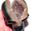 Crystal Skulls Druzy Amethyst Quartz Bowl Agate Reiki Energy Akashic Records Healing Psychic Ability