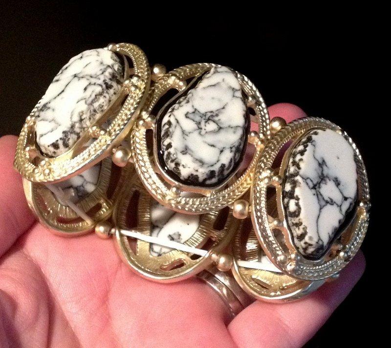 Nirvana Howlite Large Gemstone Bracelet Past Life After Death Programmed Reiki Metaphysical Jewelry