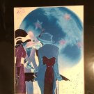 Metaphysical Giclee Art Print Full Blue Moon Glow Cocktail Party Brew Magick Spell Moonlight Madness