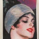 Giclee Fine Art Metaphysical Fantasy Print Purple Full Moon Maiden Goddess Priestess Art Deco Lady