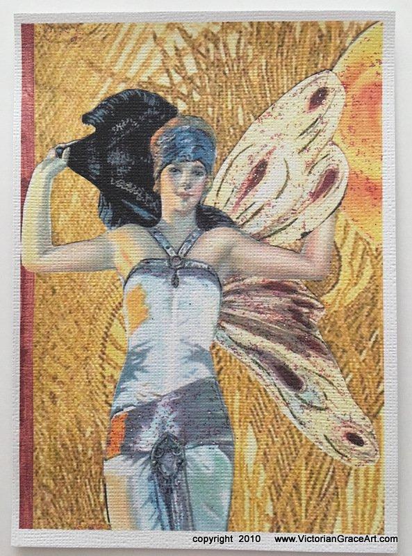Giclee Fine Art Metaphysical Spritual Fantasy Print Art Deco Sun Maiden Fairy Faerie