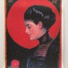 Giclee Fine Art Metaphysical Fantasy Print Full Red Rose Moon Magick Moonlight Love Spell Priestess