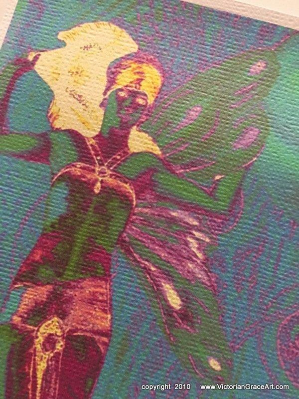 Mystical Moon Glow Fairy Giclee Fine Art Print Metaphysical Spiritual Fantasy Deco Moonlight Nymph
