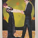 Moonlight Romance Full Moon Dance Giclee Fine Art Print Spiritual Fantasy Deco Couple