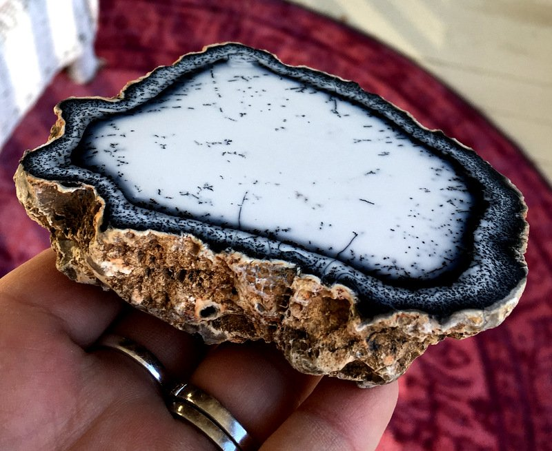 Magick Merlinite Dendritic Opal Gemstone Manifesting Plate Clairvoyance Psychic Spirit Communication