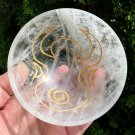 "Large 4.25"" Quartz Gemstone Bowl Goddess Manifesting Magick Psychic Ability Meditation Reiki Blessed"