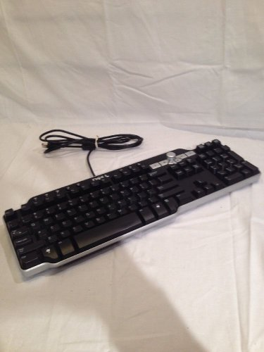 Dell SK-8135 USB Wired Multimedia Keyboard with Black Silver