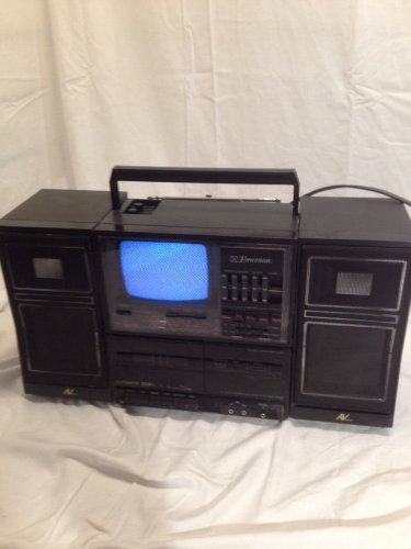 Vintage 80s Emerson XLC-555 Portable TV Stereo Cassette Boombox GHETTO BLASTER
