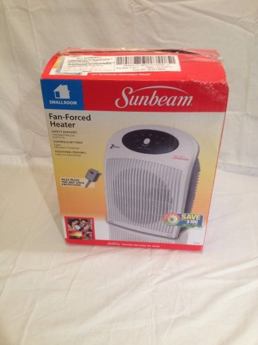 NEW SUNBEAM Fan Heater  1 Touch Electric Thermostat alci Plug