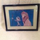 """LION KING 11"""" x 14"""" SIMBA & RAFIKI Disney Store 1995 Lithograph w/ frame!"""