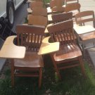 Lot of (24) MidCentury Original Student Chairs/Desk