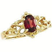 Genuine Mozambique Garnet Ring