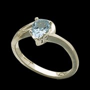 Genuine Pear Cut Aquamarine Ring
