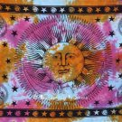 Celestial Sun and Moon Stars Tapestry in Colorful Print