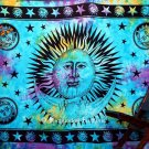 Sleeping Sun and Moon Tapestry in Blue Color