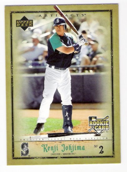 KENJI JOHJIMA 2006 Upper Deck Artifacts ROOKIE Card #76 Seattle Mariners FREE SHIPPING