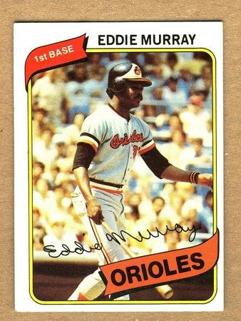 EDDIE MURRAY 1980 Topps Card #160 Baltimore Orioles FREE SHIPPING Baseball Vintage 160